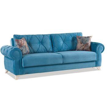 Canapea extensibila 3 locuri Mito Blue