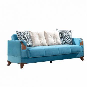 Canapea extensibila 3 locuri Star Blue