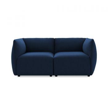 Canapea Fixa 2 locuri Cube Dark Blue