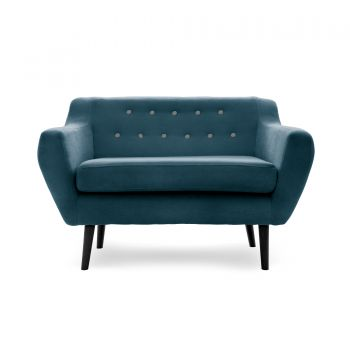 Canapea Fixa 2 locuri Kelly Marine Blue/Black