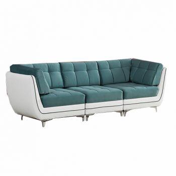 Canapea fixa 3 locuri Puzzle Blue