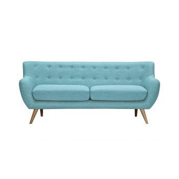Canapea fixa tapitata cu stofa Alice Blue