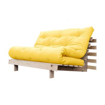 Sofa extensibila Roots Wide Natural and Yellow