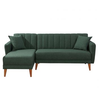 Coltar extensibil stanga Uvona Dark Green - Unique Design, Verde