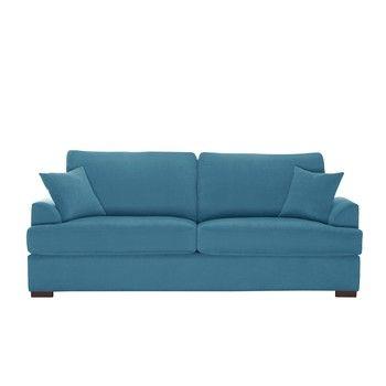 Canapea cu 3 locuri Jalouse Maison Irina, albastru fixa