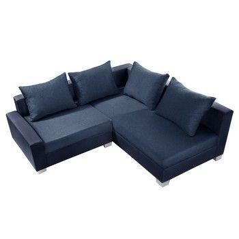 Canapea cu șezlong partea dreaptă Interieur De Famille Paris Aventure, albastru fixa