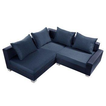 Canapea cu șezlong partea stângă Interieur De Famille Paris Aventure, albastru fixa