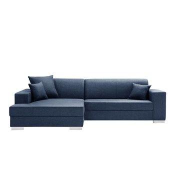 Canapea cu șezlong partea stângă Interieur De Famille Paris Perle, albastru închis fixa