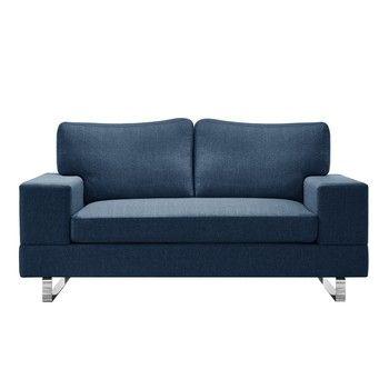 Canapea pentru 2 persoane Corinne Cobson Dahlia, albastru fixa