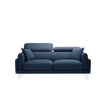 Canapea pentru 2 persoane L'Officiel Gigi, albastru fixa