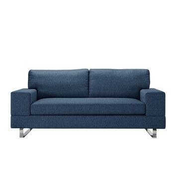 Canapea pentru 3 persoane Corinne Cobson Dahlia, albastru închis fixa