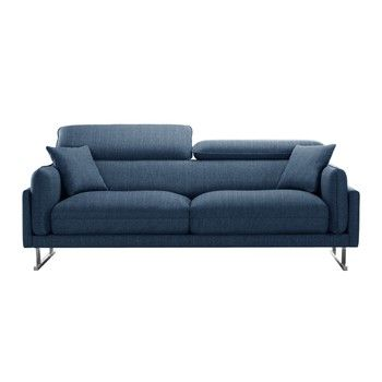 Canapea pentru 3 persoane L'Officiel Gigi, albastru fixa