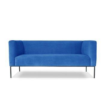 Canapea cu 2 locuri Windsor & Co. Sofas Neptune, albastru deschis fixa
