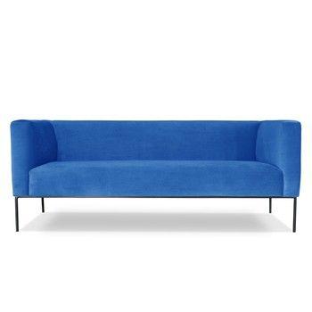 Canapea cu 3 locuri Windsor & Co. Sofas Neptune, albastru deschis fixa