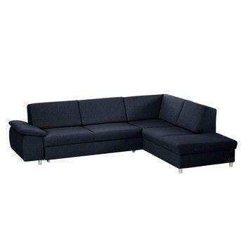 Canapea extensibilă cu șezlong pe partea dreaptă Florenzzi Savasta Blue
