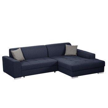 Canapea extensibilă Modernist Icone, partea dreaptă, albastru