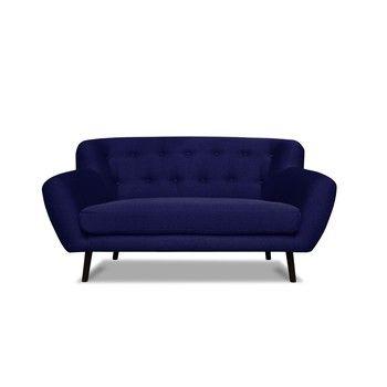 Canapea pentru 2 persoane Cosmopolitan desing Hampstead, albastru închis fixa