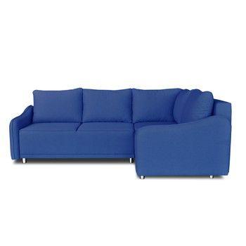 Colțar extensibil Windsor & Co. Sofas Delta, colț partea dreaptă, albastru