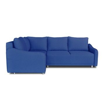 Colțar extensibil Windsor & Co. Sofas Delta, colț partea stângă, albastru