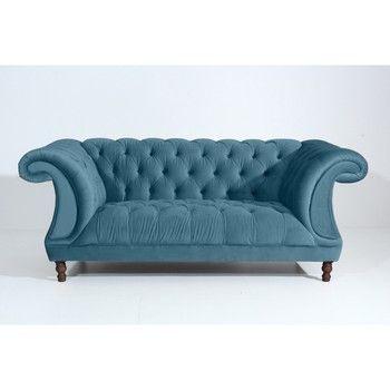 Canapea cu 2 locuri Max Winzer Ivette, albastru petrol fixa