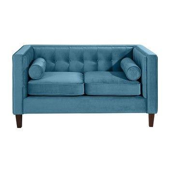 Canapea cu 2 locuri Max Winzer Jeronimo, albastru petrol fixa