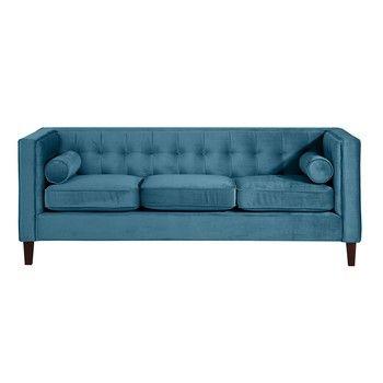 Canapea cu 3 locuri Max Winzer Jeronimo, albastru petrol fixa