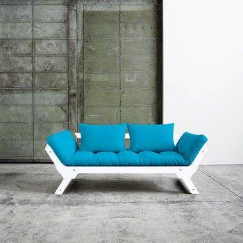 Canapea extensibilă Karup Bebop White/Horizon Blue fixa