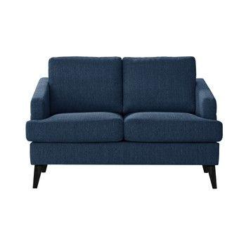 Canapea pentru 2 persoane Guy Laroche Muse, albastru fixa
