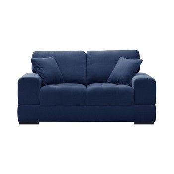 Canapea pentru 2 persoane Guy Laroche Passion, albastru fixa