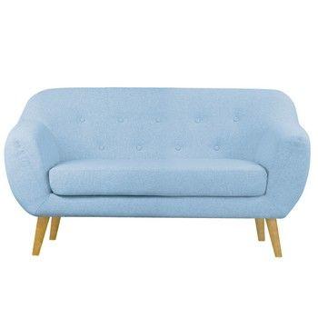 Canapea pentru 2 persoane Helga Interiors Oslo, albastru fixa