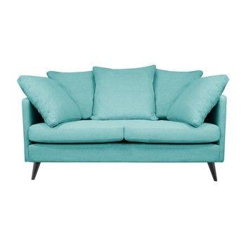 Canapea pentru 2 persoane Helga Interiors Victoria, albastru fixa