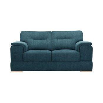 Canapea pentru 2 persoane Stella Cadente Madeiro, albastru fixa