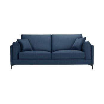 Canapea pentru 3 persoane Guy Laroche Desire, albastru fixa