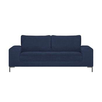 Canapea pentru 3 persoane Guy Laroche Harmony, albastru fixa