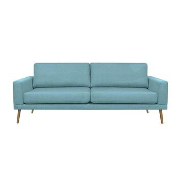 Canapea pentru 3 persoane Helga Interiors Alan, albastru fixa