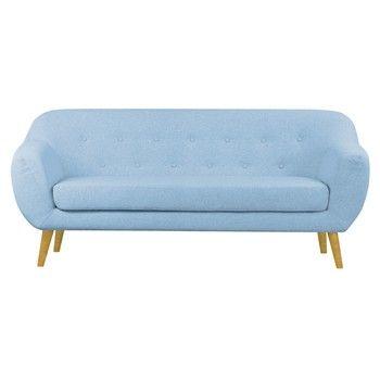 Canapea pentru 3 persoane Helga Interiors Oslo, albastru fixa