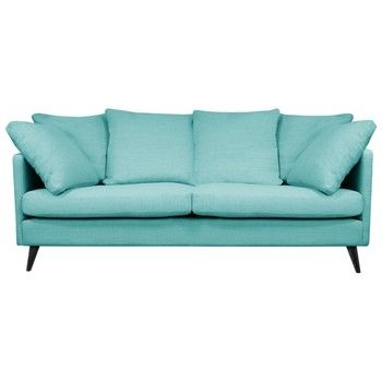 Canapea pentru 3 persoane Helga Interiors Victoria, albastru fixa