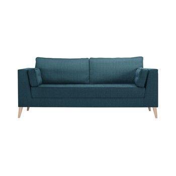 Canapea pentru 3 persoane Stella Cadente Atalaia, albastru fixa