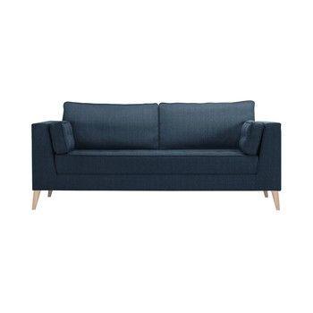 Canapea pentru 3 persoane Stella Cadente Atalaia, albastru închis fixa