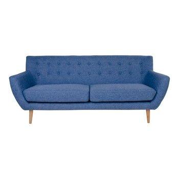 Canapea 3 locuri House Nordic Monte, albastru fixa