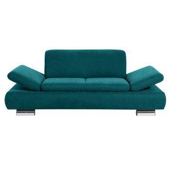 Canapea cu 2 locuri Max Winzer Terrence Anderson, cotiere ajustabile, albastru petrol fixa