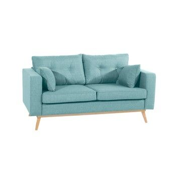 Canapea cu 2 locuri Max Winzer Tomme, albastru deschis fixa