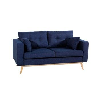 Canapea cu 2 locuri Max Winzer Tomme, albastru închis fixa