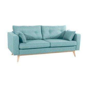 Canapea cu 3 locuri Max Winzer Tomme, albastru deschis fixa