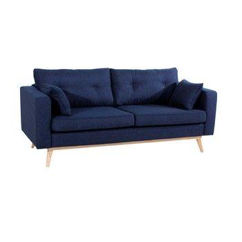 Canapea cu 3 locuri Max Winzer Tomme, albastru închis fixa