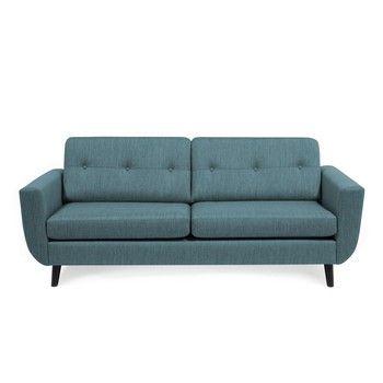 Canapea cu 3 locuri Vivonita Harlem, albastru fixa