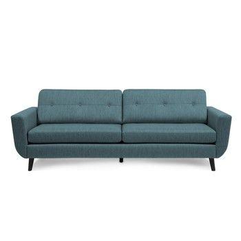 Canapea cu 3 locuri Vivonita Harlem XL, albastru fixa