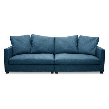 Canapea cu 3 locuri Vivonita Hugo, albastru fixa
