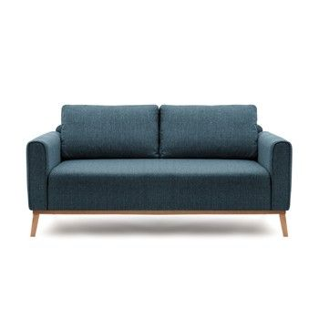 Canapea cu 3 locuri Vivonita Milton, albastru fixa