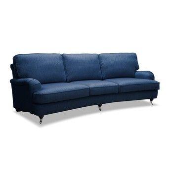 Canapea cu 3 locuri Vivonita William, albastru fixa